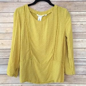 H&M yellow floral blouse